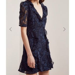 Keepsake the Label Hold on Navy Lace Dress NWT L